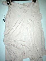 NWT New Designer Natori Pajamas Pink Tan Beige Womens PJ M Cami Pants Top Set image 6