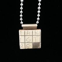 Scrabble Tile Pendant (19.173) - $15.00
