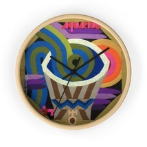 Zodiac Wooden Wall Clock, Aquarius Christmas Gift, Colorful Wall Decor, ... - $39.99