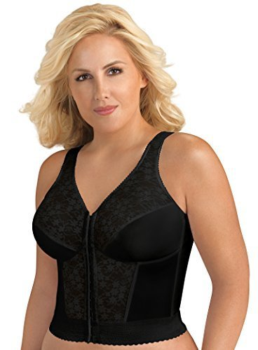 Exquisite Form Women's Original Long Line Posture Bra 5107565, Black, 38B