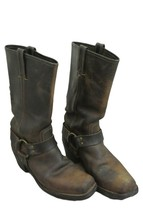 FRYE USA $388 ICONIC Harness Boots 77300 Distressed Brown Women's 8 - $102.95