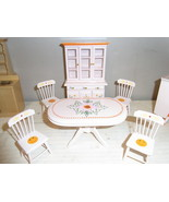 White Wood Dining Room Set Doll House - $32.95