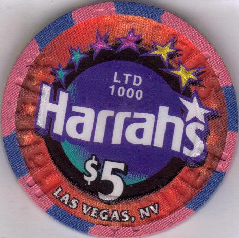 CLINT HOLMES $5 LTD 1000 HARRAHS Vegas Chip