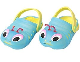 Kids Sandals in/Outdoor Toddler Clogs Shoes/Bule Caterpillar 17.3CM Length Blue