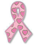 Breast Cancer Lapel Pin Pink Awareness Ribbon H... - $11.97