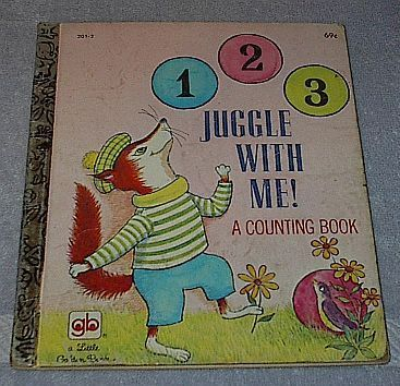 1 2 3 Juggle With Me A Counting Book Vintage Little Golden Book