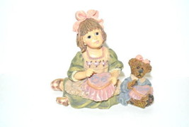 Yesterdays Child Boyds Bears Dollstone Collection,Alyssa w/Caroline A Stich In T - $13.81