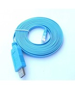 Blue USB / RS232 Serial RJ45 CAT5 Console Cable Router / Switch FTDI  - $4.50