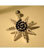 BELLY NAVEL RING WHITE CRYSTAL STARFISH DESIGN ... - $7.99