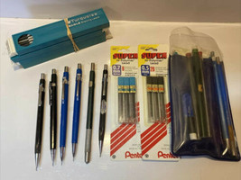 Lot Of Vintage Pentel & More Drafting Pens Mechanical Click Pencils P205 PS315 - $64.35