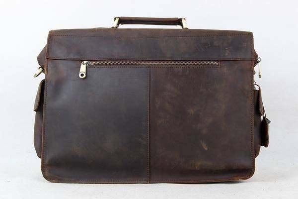 Sale, Leather Men Briefcase, Laptop Bag, Vintage CrossBody Bag, Messenger Bag image 3