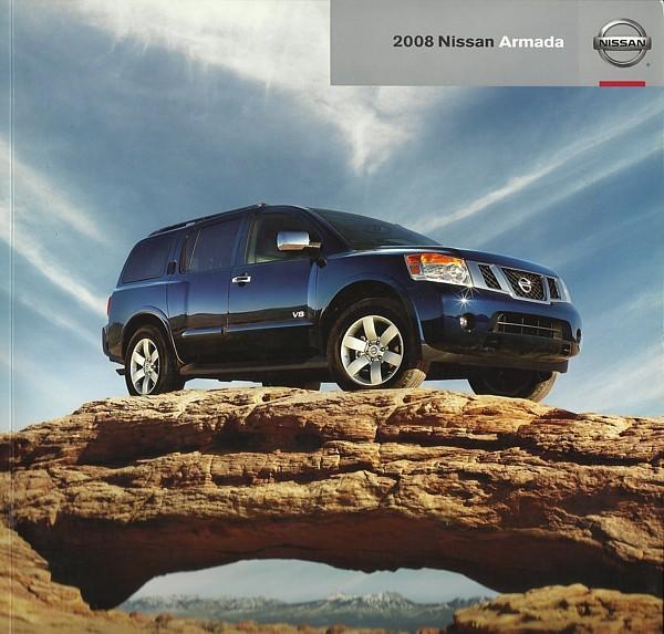 2008 Nissan ARMADA sales brochure catalog US 08 V8 SE LE