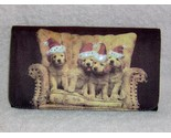 Golden retriever billfold clutch purse santa hats 1 thumb155 crop