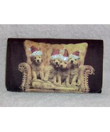Golden Retriever Puppies Wearing Santa Hats Poc... - $8.99