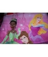Disney Princess Girls Size 4 Pink Pajama Set Tiana Belle Sleeping Beauty... - $17.00