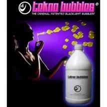Half Gallon GOLD UV Reactive Tekno Bubbles with Free Bubbles Wands and UV Marker - $29.95