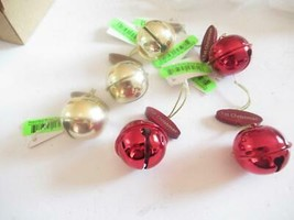 CHRISTMAS ORNAMENTS WHOLESALE- 96614- CHRISTMAS BELLS - (6) - NEW- W23 - $5.83