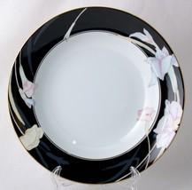 Mikasa Charisma Black Rimmed Soup Bowls New Fine China L9050 - $6.00