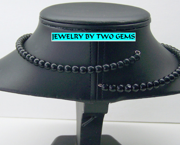 Jewelry By Two Gems (Wn17)  Miracle Wire with Onyx Beads