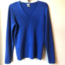 Ann Taylor Vibrant Blue Lightweight Sweater Size Large - $25.74