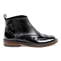 Black 38.5 EUR - 8.5 US Robert Clergerie Paris Womens Brogue Ankle Boot ... - $350.70