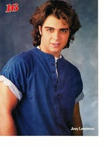Joey Lawrence Luke Perry teen magazine pinup clipping bright blue shirt Bop