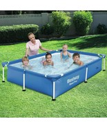 "Bestway 7.25' x 5' x 17"" Steel Pro Rectangular Above Ground Swimming Pool - $149.99"