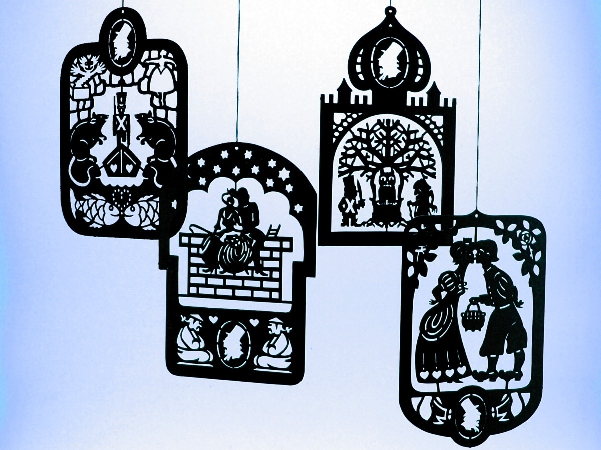 Primary image for 4 Pcs. Hans Christian Andersen's Black Brass Mobile Hangers