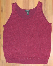 Womens Lane Bryant Brand Red Casual Pullover Vest size 22-24 / 44x27 - $13.98