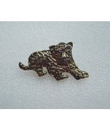 Vintage Lion Cub Brooch or Pin Gold With Red Eyes - $5.00