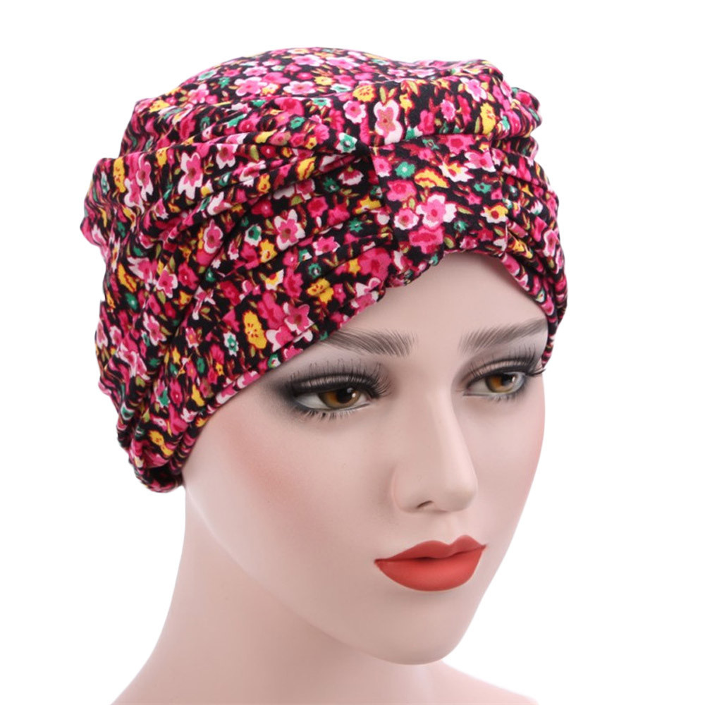 63f343e782a Women muslim stretch turban hat chemo cap hair loss head scarf wrap hijib cap  new fashion