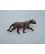 Vintage Leopard Cougar Brooch or Pin Gold  - $5.00