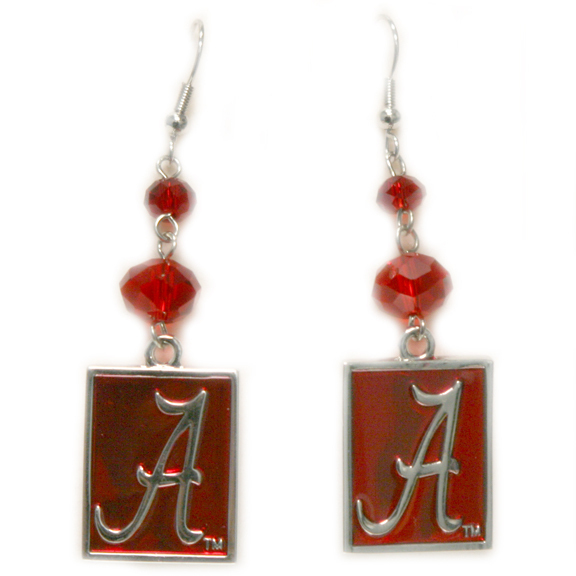 Alabama Crimson Tide Officialy Licensed Ncaa Beaded Earrings