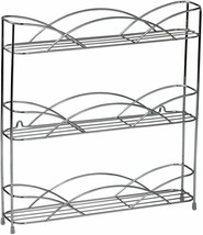 Chrome Wall Mounted or Countertop 3 Tier Spice Bottles Rack Jars Storage... - $40.16