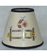 BIRDHOUSE on FENCE Mini Paper Chandelier Lamp Shade - $6.50