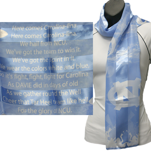North Carolina Officialy Licensed Ncaa Tarheels Musical Scarf