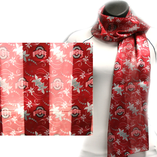 Ohio State Buckeyes Officialy Licensed Ncaa Floral Scarves