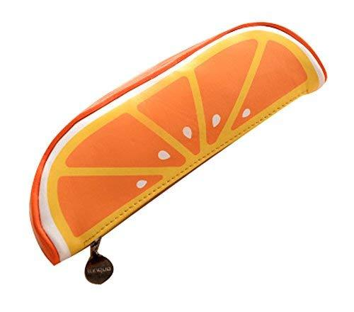 Creative Fruit Shape Pencil Case Pencil Holder Orange