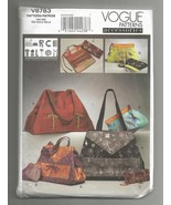 2011 Marcy Tilton Bags/Totes Vogue #V8783 - $10.00