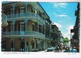 Louisiana Postcard New Orleans La Branche Building Royal & St Peter Streets - $2.19