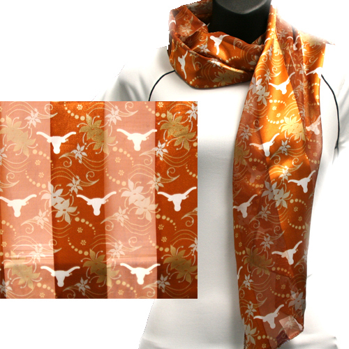 Texas Longhorns Officially Licensed Ncaa Scarves Floral Scarf