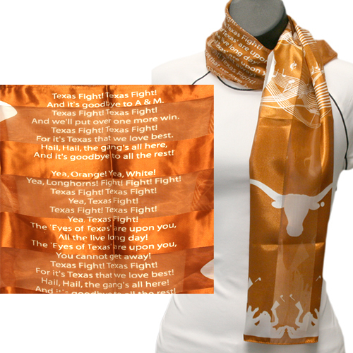 Texas Longhorns Officially Licensed Ncaa Scarves Musical Scarf
