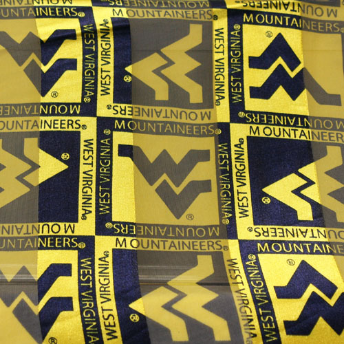 West Virginia Mountaineers Officially Licensed Ncaa Scarves Polyester Checkered