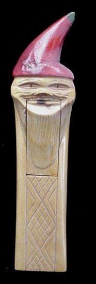Old Wooden Elf Gnome Wood NutCracker Nut Cracker