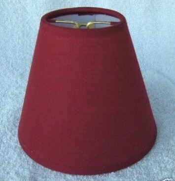 New DARK RED Muslin Mini Chandelier Lamp Shade
