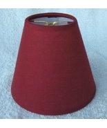 New DARK RED Muslin Mini Chandelier Lamp Shade - $8.00