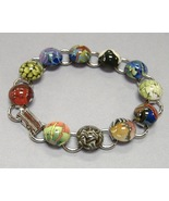Colorful Cabochon Ceramic Bracelet Handcrafted ... - $66.00