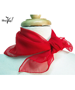 Red Chiffon Scarf 50s Style Costume Accessory - $3.99