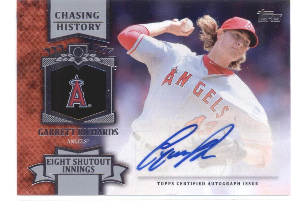 Primary image for 2013 Topps Update Chasing History Autographs #CHA-GR Garrett Richards Angels NM-