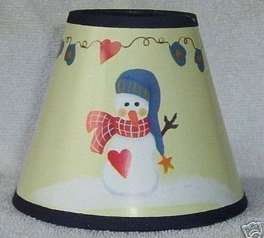 New SNOWMAN Mini Paper Chandelier Lamp Shade